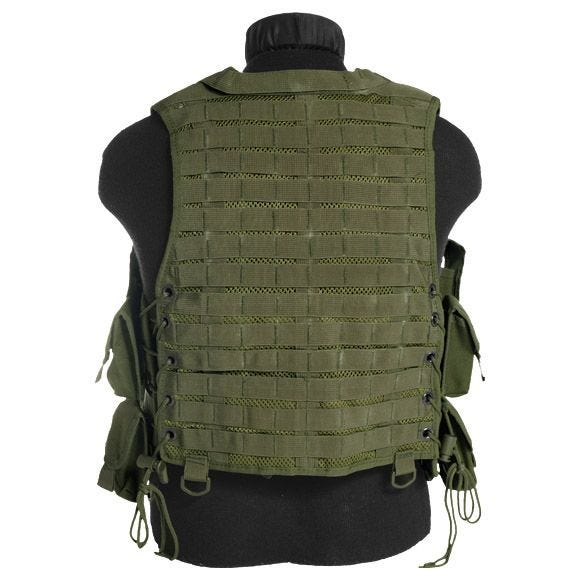Mil-Tec AK74 Vest with Pouches Olive