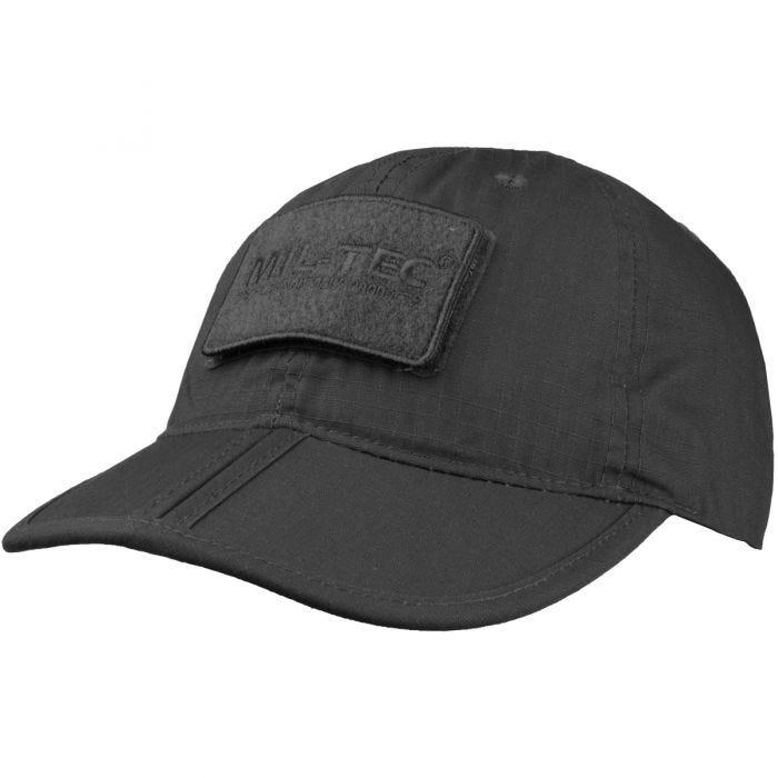 Mil-Tec Foldable Baseball Cap Black
