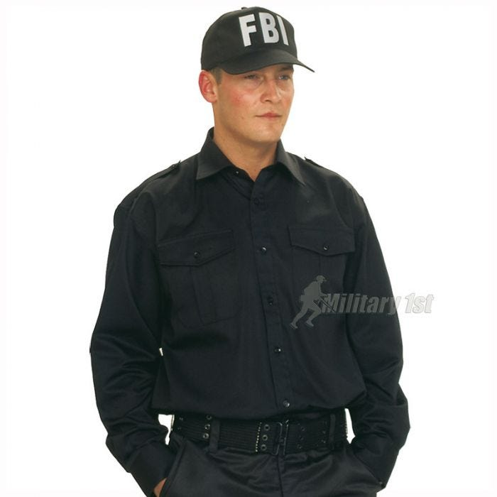 Mil-Tec FBI Baseball Cap with Plastic Band Black