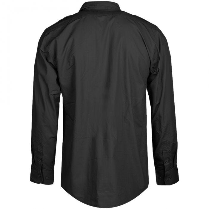 Mil-Tec RipStop Shirt Long Sleeve Black