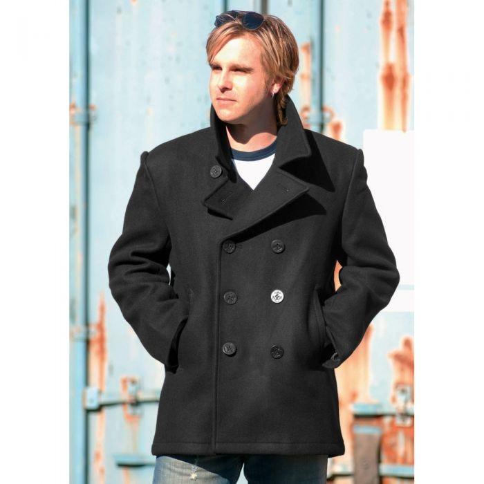 Mil-Tec US Navy Pea Coat Black