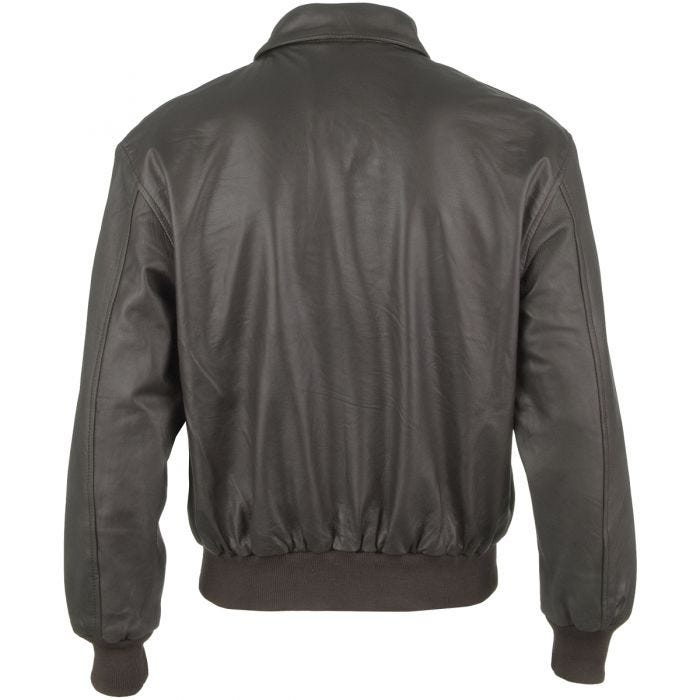 Mil-Tec A-2 Leather Flight Jacket Brown