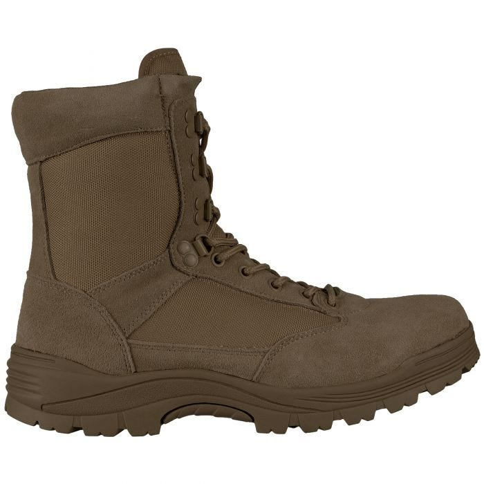 Mil-Tec Tactical Side Zip Boots Brown