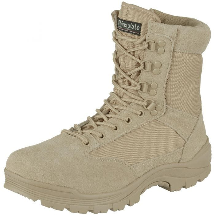 Mil-Tec Tactical Side Zip Boots Khaki