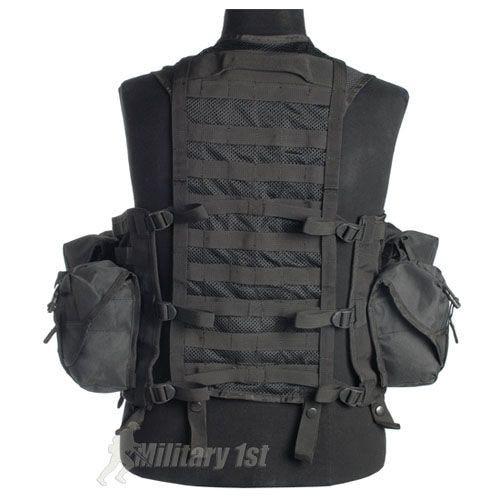Mil-Tec Tactical Vest Modular System Black