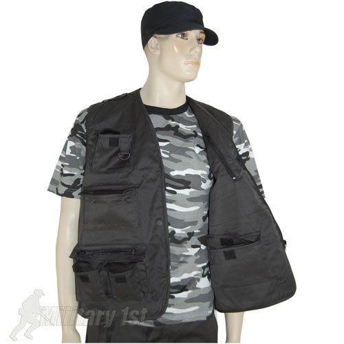 Mil-Tec Fishing Vest Black