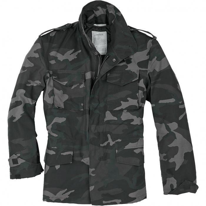 Surplus US Field Jacket M65 Black Camo