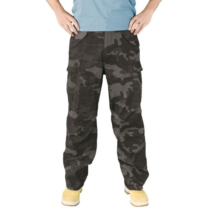 Surplus Vintage Fatigues Trousers Black Camo