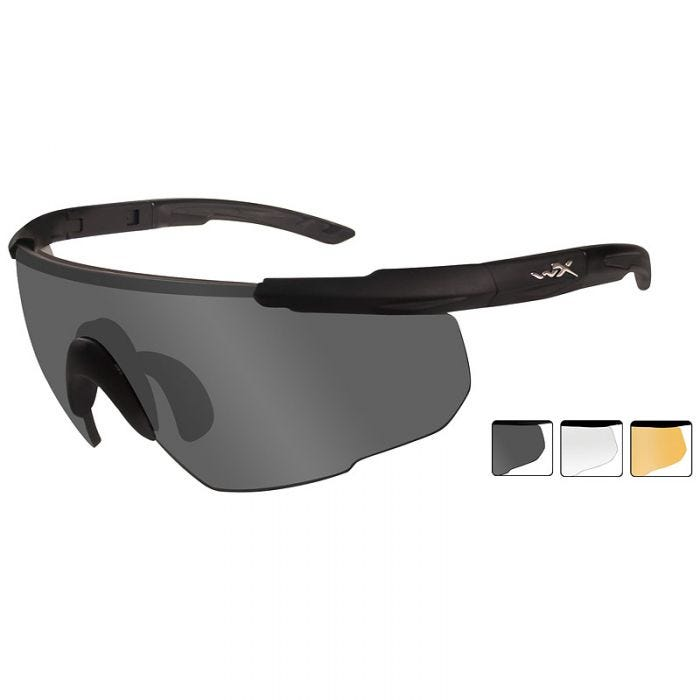 Wiley X Saber Advanced - Smoke Grey + Clear + Light Rust Lens / Matte Black