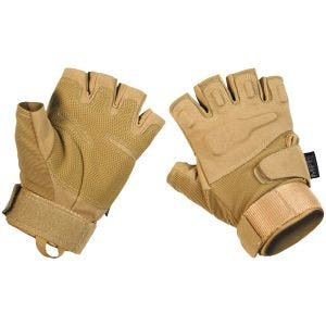 MFH Protect Tactical Fingerless Gloves Coyote Tan