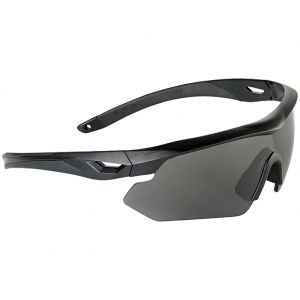 Swiss Eye Nighthawk Sunglasses - Smoke + Orange + Clear Lens / Black Rubber Frame
