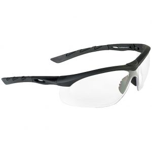 Swiss Eye Lancer Sunglasses - Clear Lens / Black Rubber Frame
