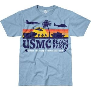 7.62 Design USMC Beach Party Battlespace T-Shirt Sky Blue