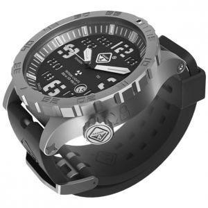 Hazard 4 Heavy Water Diver Titanium Tritium Watch Bead-Blasted Black Dial White Graphics GGYG