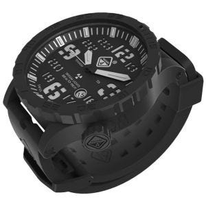 Hazard 4 Heavy Water Diver Titanium Tritium Watch Black PVD Black Dial White Graphics BBRB
