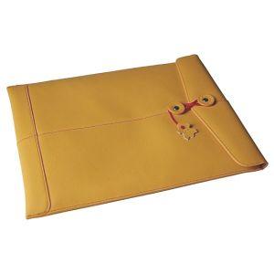 "Civilian Manila-13 Leather Sleeve for MacBook 13"" Mango"