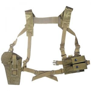 Flyye Shoulder Holster System Panel MOLLE Khaki