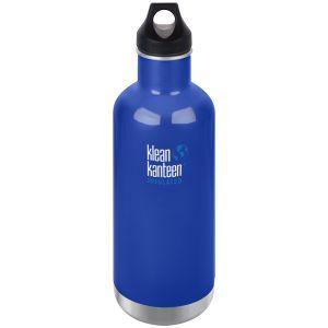 Klean Kanteen 946ml Classic Insulated Bottle Loop Cap Coastal Waters