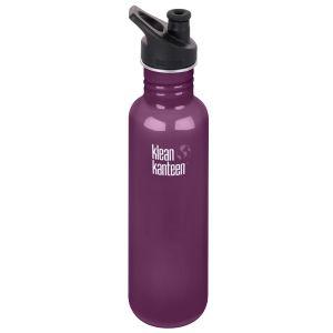 Klean Kanteen Classic 800ml Bottle with Sport Cap 3.0 Winter Plum