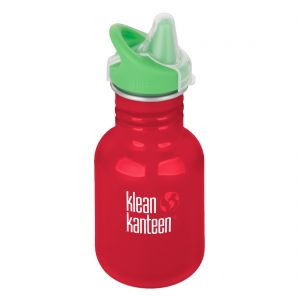Kid Kanteen 355ml Bottle with Sippy Cap Mineral Red