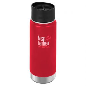 Klean Kanteen Wide Mouth Insulated 473ml Bottle Cafe Cap 2.0 Mineral Red
