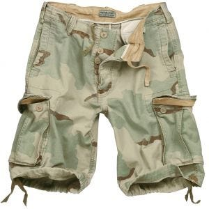 Surplus Vintage Shorts Washed 3-Colour Desert