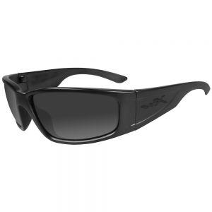 Wiley X Zak Black Ops Glasses - Smoke Grey Lens / Matte Black Frame