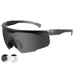 Wiley X PT-1 Glasses - Smoke Grey + Clear Lens / Matte Black Frame