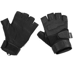 MFH Protect Tactical Fingerless Gloves Black