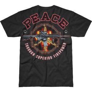 7.62 Design Peace Through Superior Firepower Battlespace T-Shirt Black