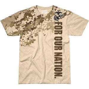 7.62 Design USMC For Our Nation T-Shirt Sand