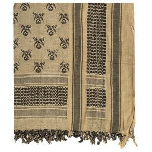 Mil-Tec Shemagh Scarf Skull Coyote / Black