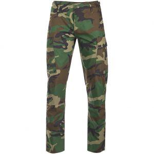 Teesar US BDU Trousers Ripstop SlimFit Woodland
