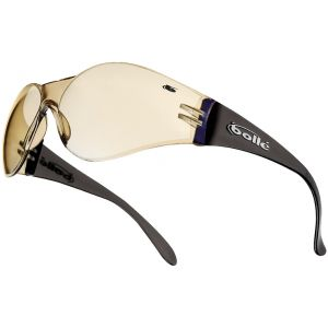 Bolle Bandido Glasses Clear Base Blue Mirror Brown Frame