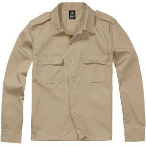 Brandit US Shirt Long Sleeve Beige
