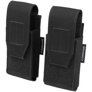 Condor QD Pistol Mag Pouch 2 Pack Black