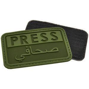 Hazard 4 3D Press / Arabic Reporters Morale Patch OD Green