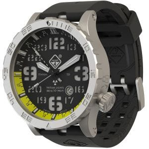 Hazard 4 Heavy Water Diver Titanium Tritium Watch Blacktie Yellow GMT Green/Yellow