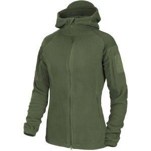 Helikon Womens Cumulus Heavy Fleece Jacket Taiga Green