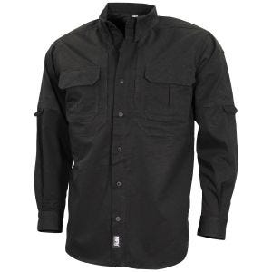 MFH Strike Tactical Shirt Long Sleeve Black
