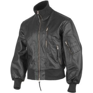 Mil-Tec German Army Leather Flight Jacket Black