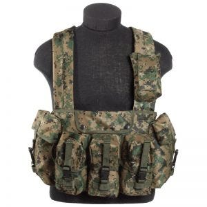 Mil-Tec Chest Rig Digital Woodland