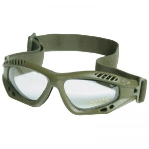 Mil-Tec Commando Goggles Air Pro Clear Lens Olive Frame