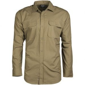Mil-Tec RipStop Shirt Long Sleeve Coyote
