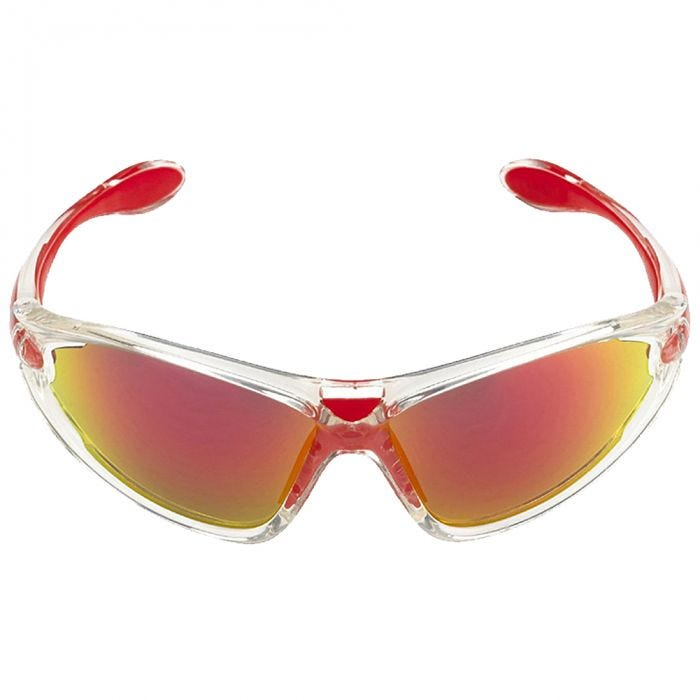 Swiss Eye Constance Sunglasses - Smoke BR Revo + Orange + Clear Lens / Crystal Red Frame