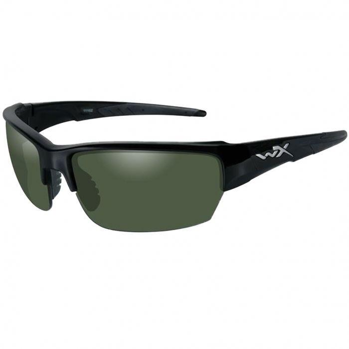 c3a6372495e Wiley X WX Saint Glasses - Polarized Smoke Green Lens   Gloss Black Frame