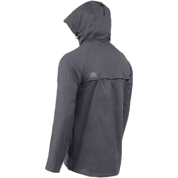 Highlander Stow & Go Packaway Jacket Charcoal