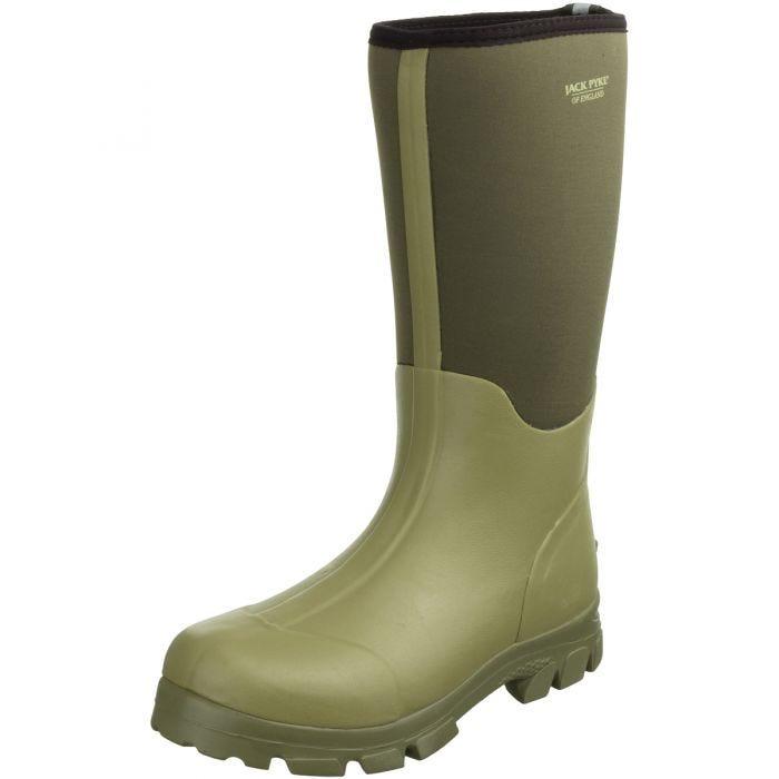 Jack Pyke Ashcombe Neoprene Wellington Boots Light Olive/Green