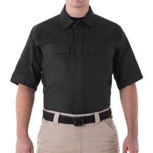First Tactical Men's V2 Short Sleeve BDU Shirt Black
