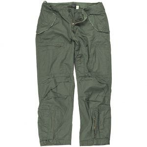 Mil-Tec Pilot Trousers Poplin Cotton Prewashed Olive